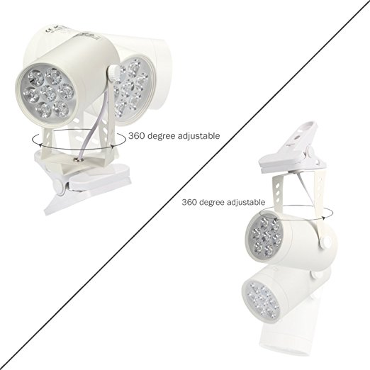 LED Plant Grow Light 7W 360 Degree Adjustable Indoor Plant Lights with Clip