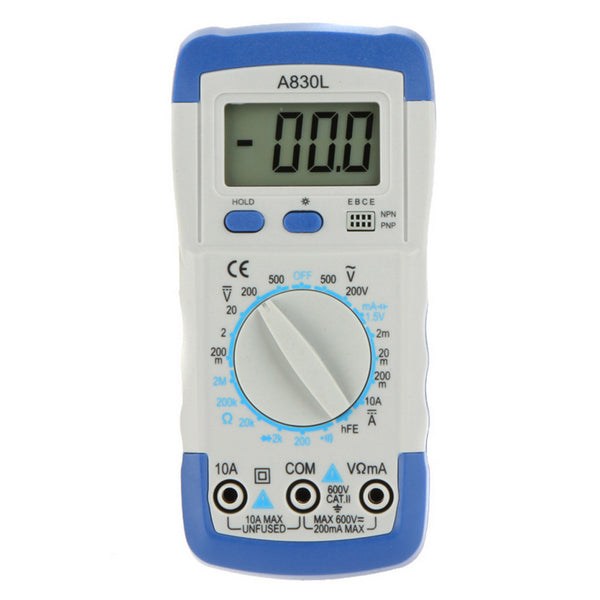 A830L Digital Multimeter Avometer Volt Ohm Amp Tester With LCD Display