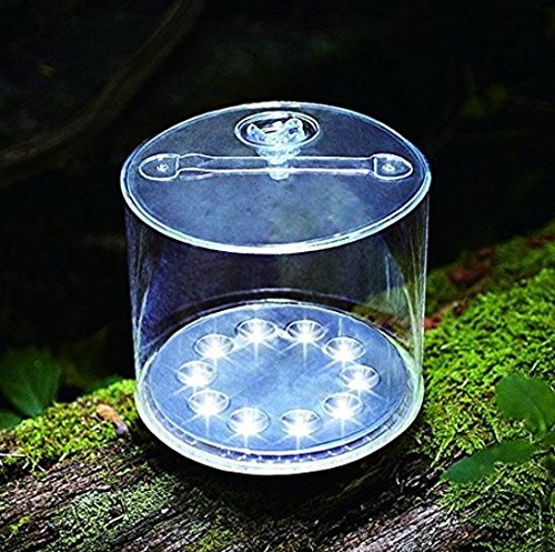 Inflatable LED Solar Light, Rechargeable Waterproof Lantern For Garden Yard Outdoor