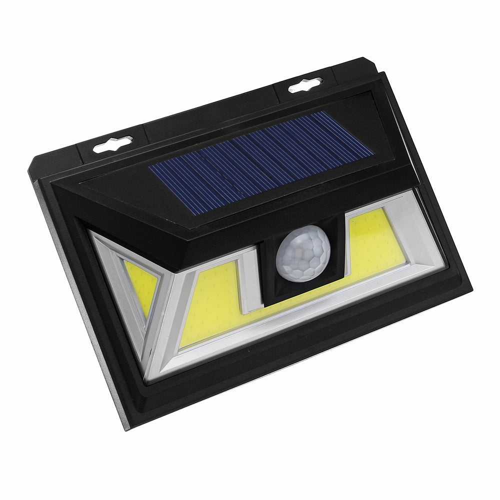 ARILUX® 10W Solar Power 66 COB LED Waterproof PIR Motion Sensor Light Outdoor Wide Angle Wall Lamp