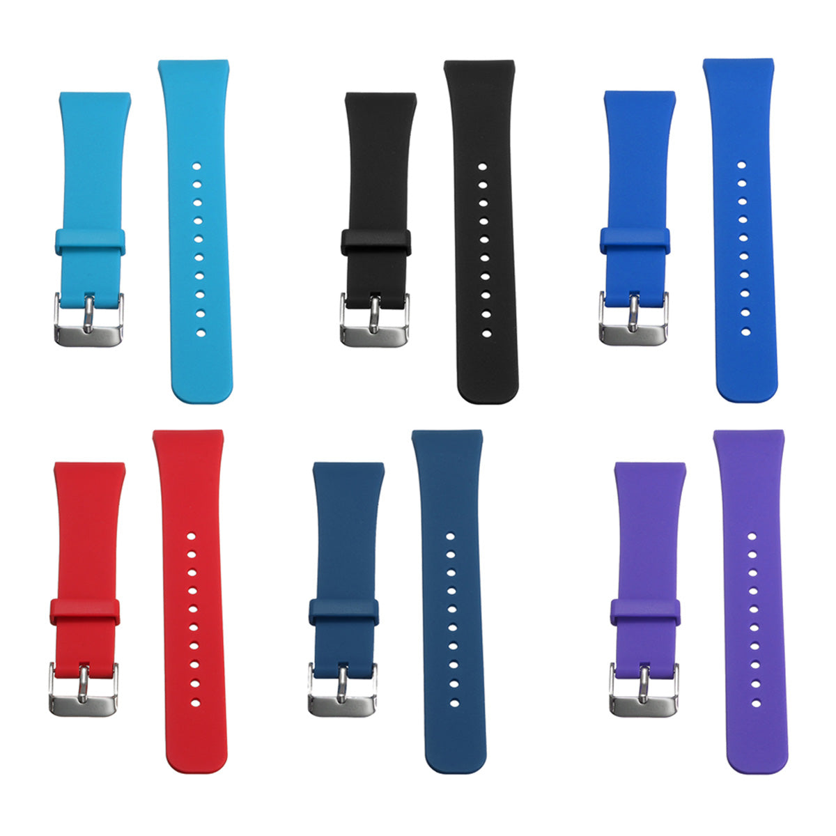 Samsung Gear Fit 2 11.5-17.5cm Silicone Soft Replacement Smart Wrist Strap For Samsung Gear Fit 2