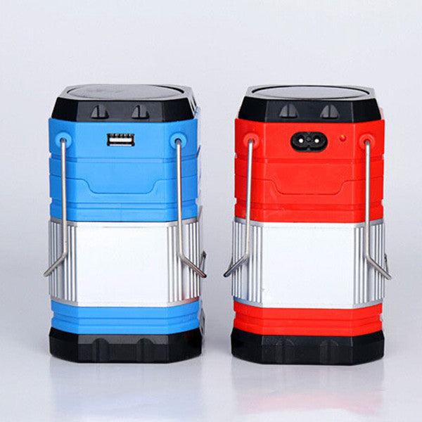 Solar Powered Rechargeable USB Stretchable LED Lamp Lantern For Outdoor Camping Hiking