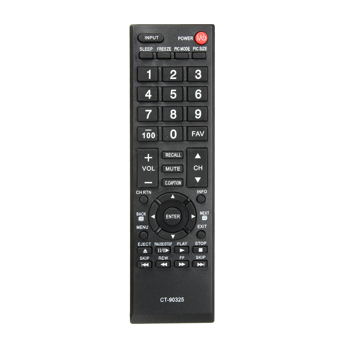 Replacement TV Remote Control For Toshiba CT90325