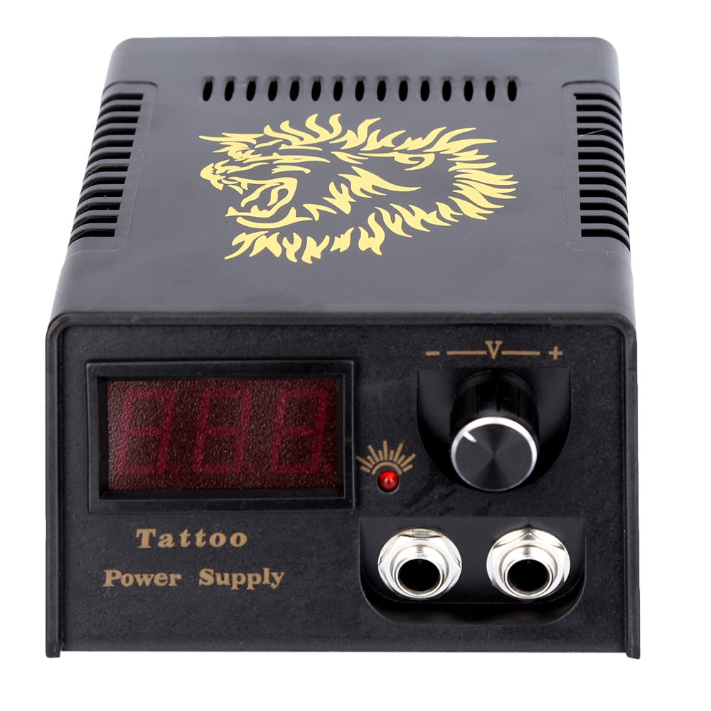 Complete Tattoo Kit Power Supply Tips 2 Machine Guns Shader Liner