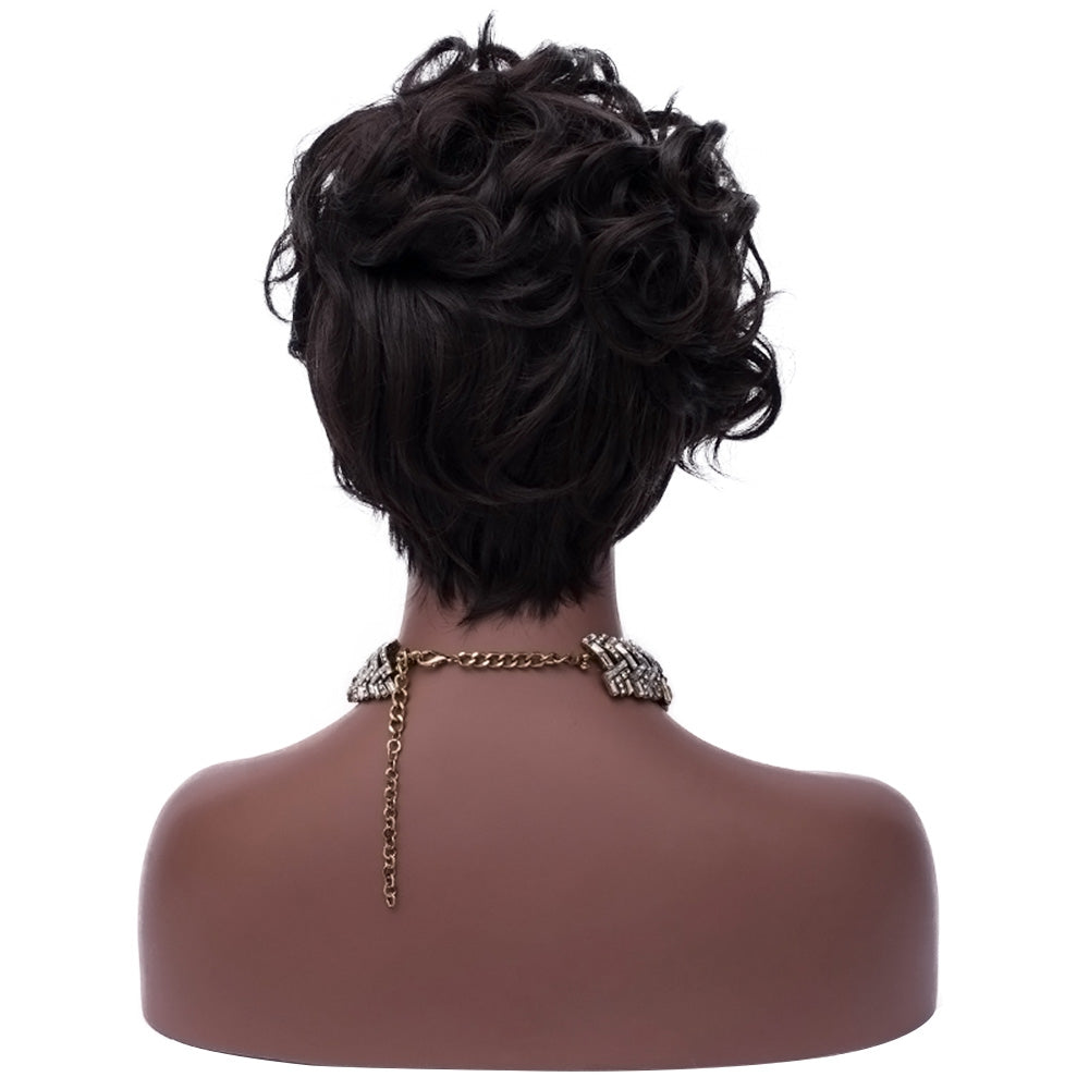 Beauty Short Curly Hair Heat Resistant Women Synthetic Wig