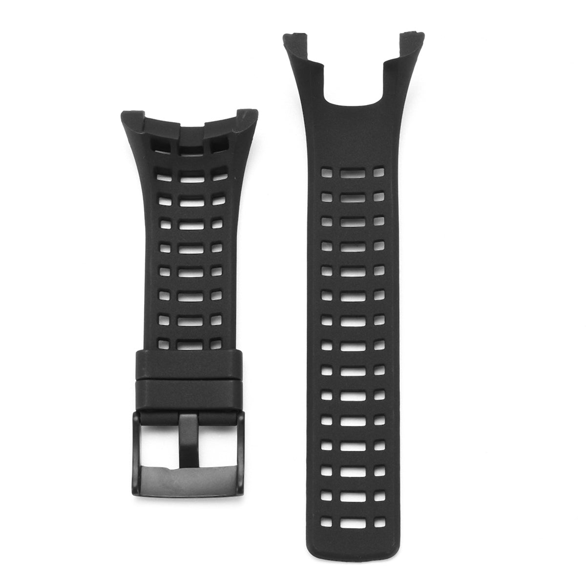 Replacement Black Rubber Watch Band Strap Armband for Suunto Ambit 3 Peak Ambit 2