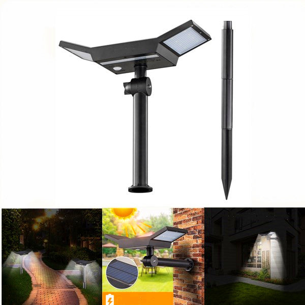 ARILUX® 20 LED White Light Sensor Solar Light Outdoor Waterproof Stake Light