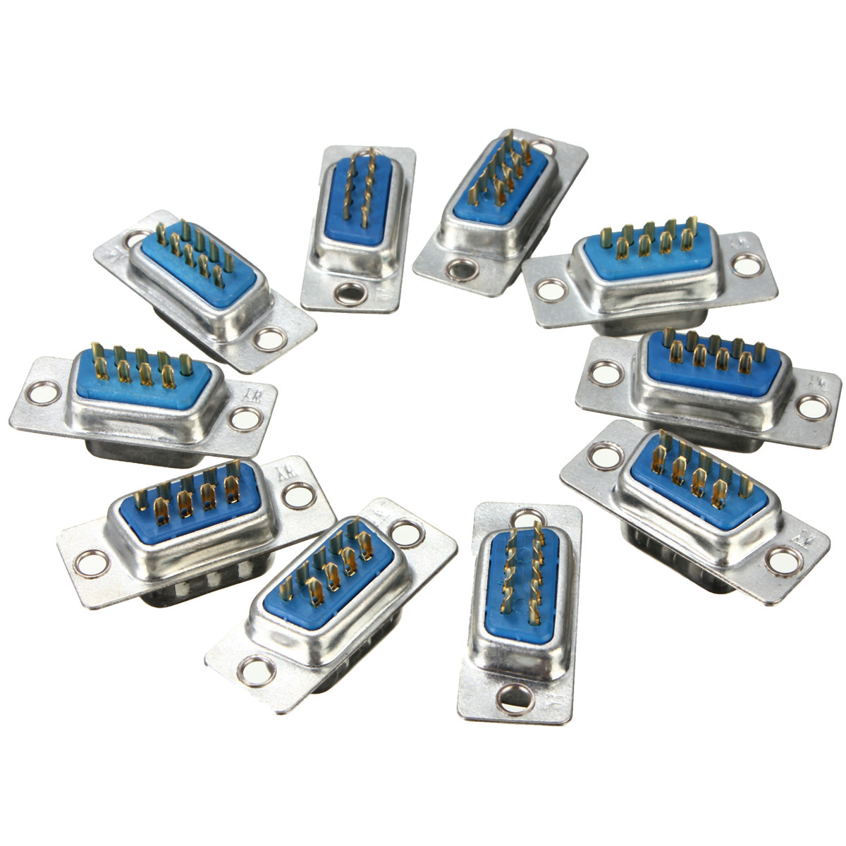 10Pcs RS232 Serial Port 9 Pin DB9 Connector Female Male Solder Soldering Plug
