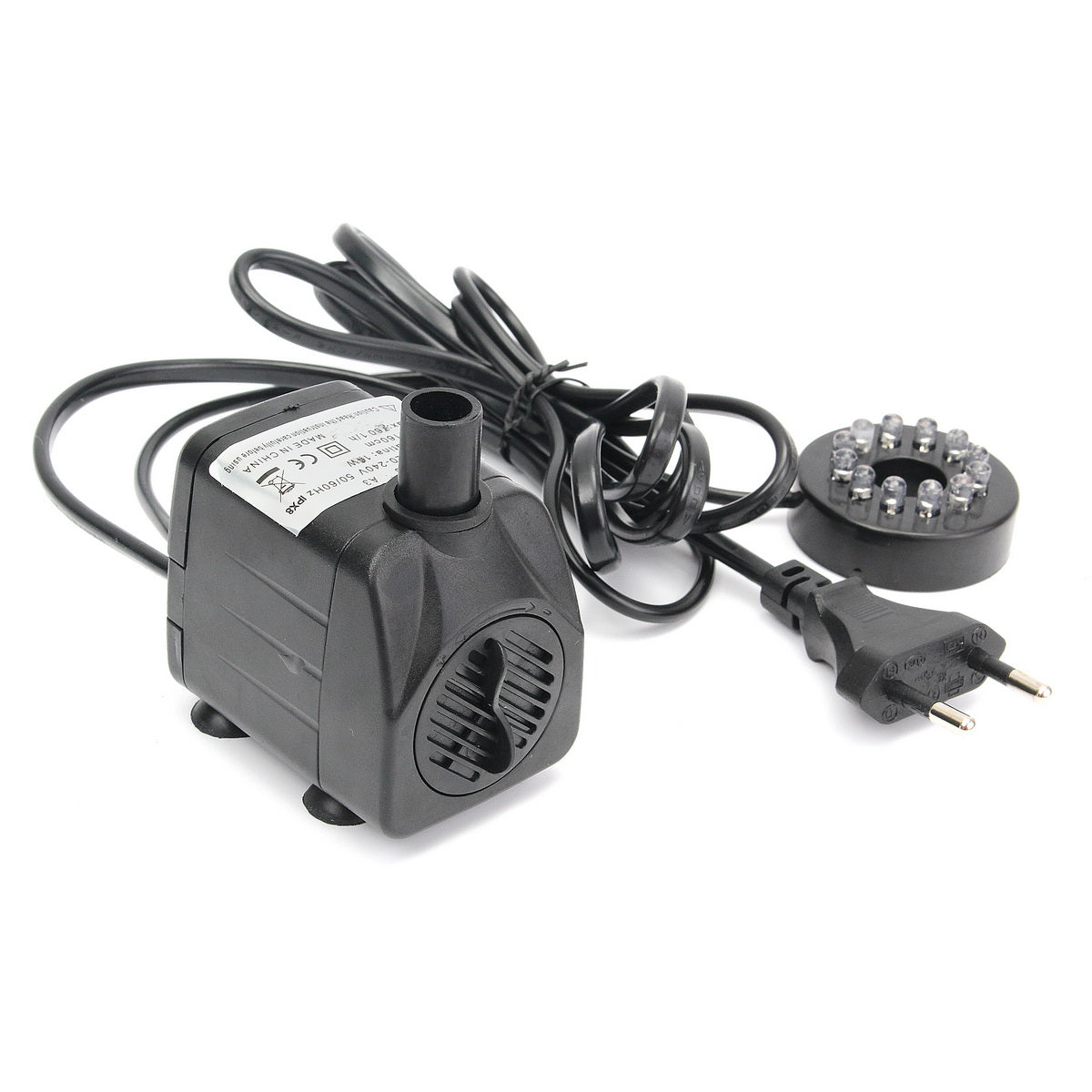 10W 220V LED Light Submersible Water Pump Aquariums Fish Pond Fountain Sump Waterfall 600L/h