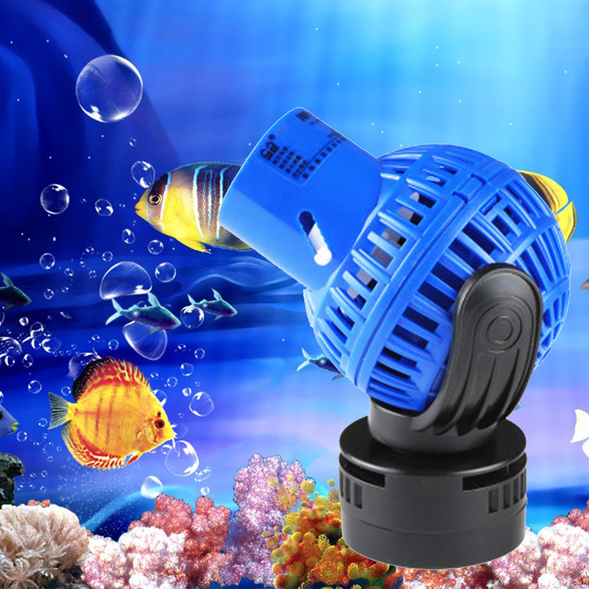 4000-10000L/H Aquarium Fish Tank 360 Water Wave Maker Pump Powerhead Magnet Base