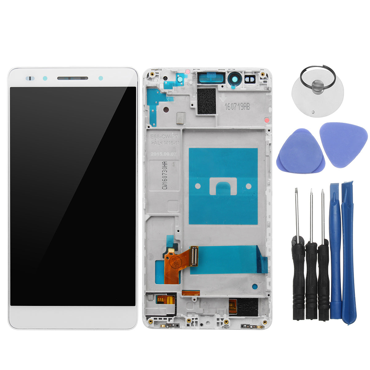 LCD Display + Touch Screen Replacement Digitizer Assembly +Frame For Huawei Honor 7