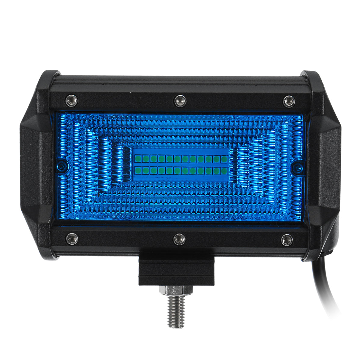 5 Inch 24LED 72W 7200LM LED Work Light Flood Beam for Jeep Offroad 4WD SUV DC10-30V