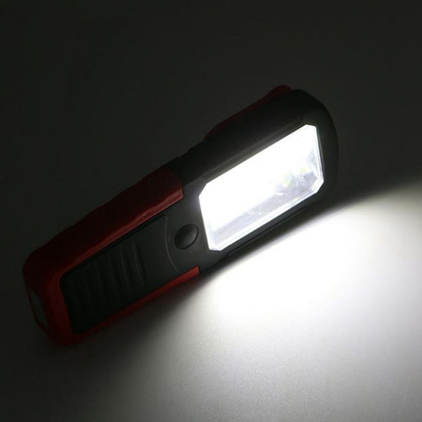 5W COB LED Magnetic Flashlight Torch Work Light Hanging Hook for Camping Outdoor Emergency