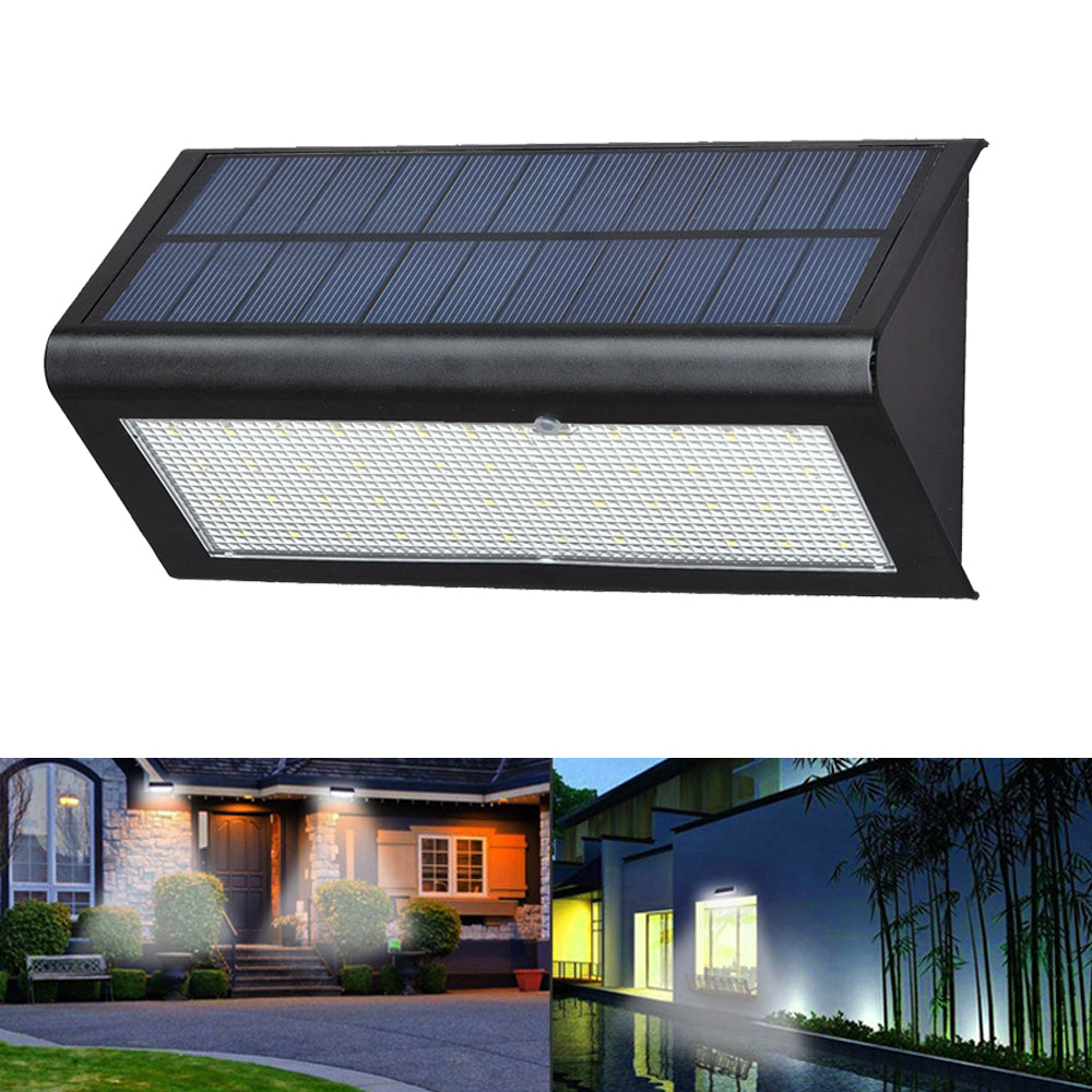 6W 48 LED Solar Powered 4 Modes 1000LM Radar Sensor Wall Street Light Waterproof IP65 Outdoor Yard