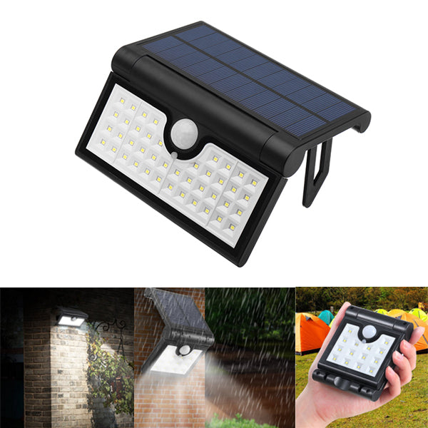 ARILUX 14/42/58 LED Foldable Solar PIR Motion Sensor Wall Light Outdoor Waterproof Portable Lamp