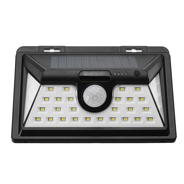 Solar Powered 34 LED Motion Sensor Wall Light Waterproof Wide Angle Ourdoor Garden Security Lamp