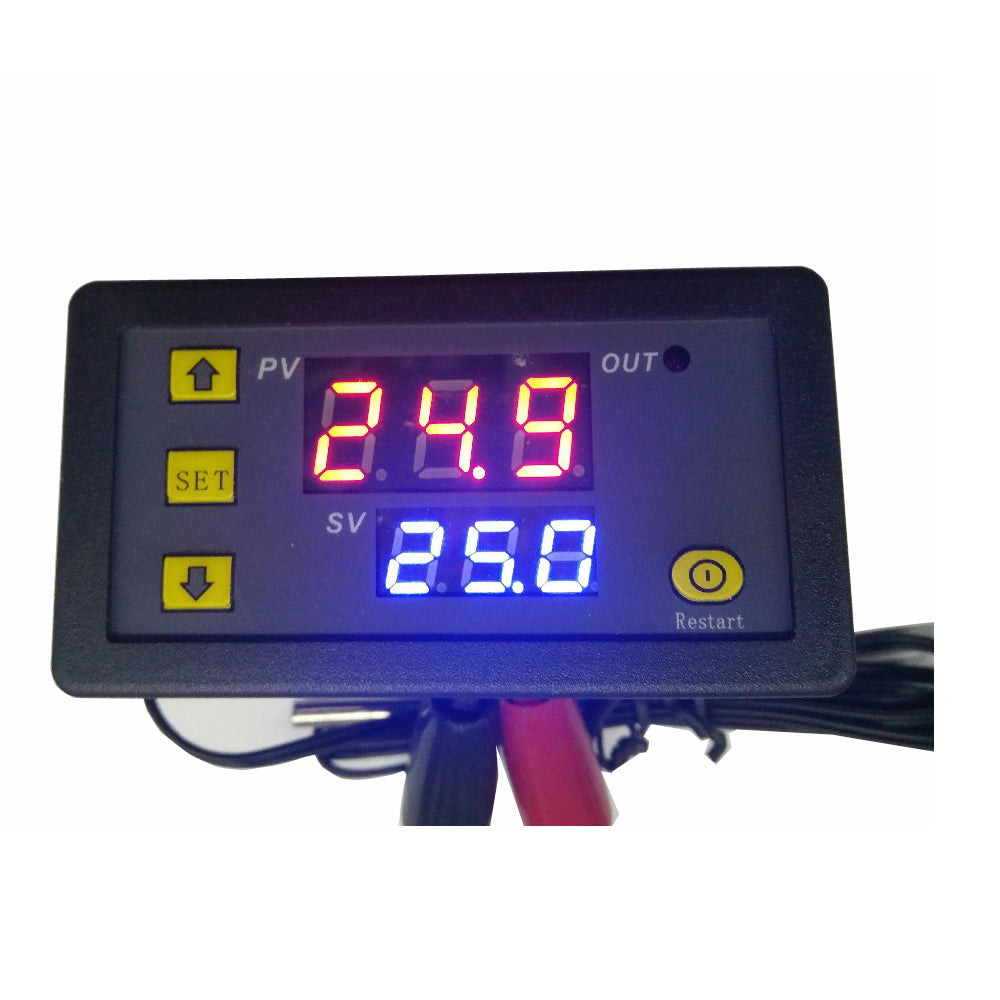 W1018 5V 12V 24V 10A Digital Thermometer Temperature Controller Thermostat Incubator -20~110℃ with Probe