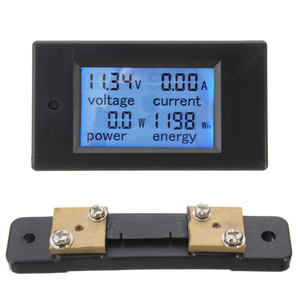 100A DC Digital Multifunction Power Meter Energy Monitor Module Volt Meterr Ammeter With 50A Shunt