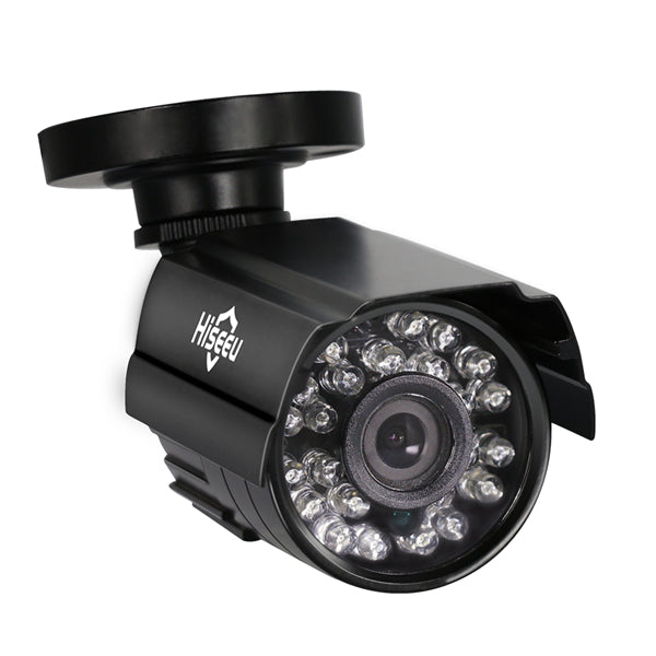 Hiseeu 1000TVL 3.6mm Lens Metal Analog Night Vision Outdoor CCTV Camera Waterproof Bullet Camera
