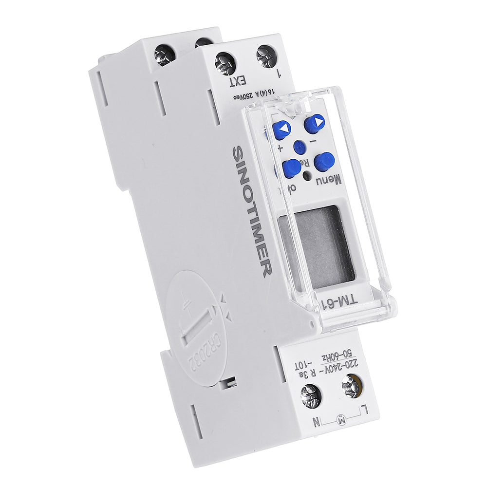 TM610 18mm Single Module DIN Rail 7 Days 24 Hours Programmable Timer Switch 220V
