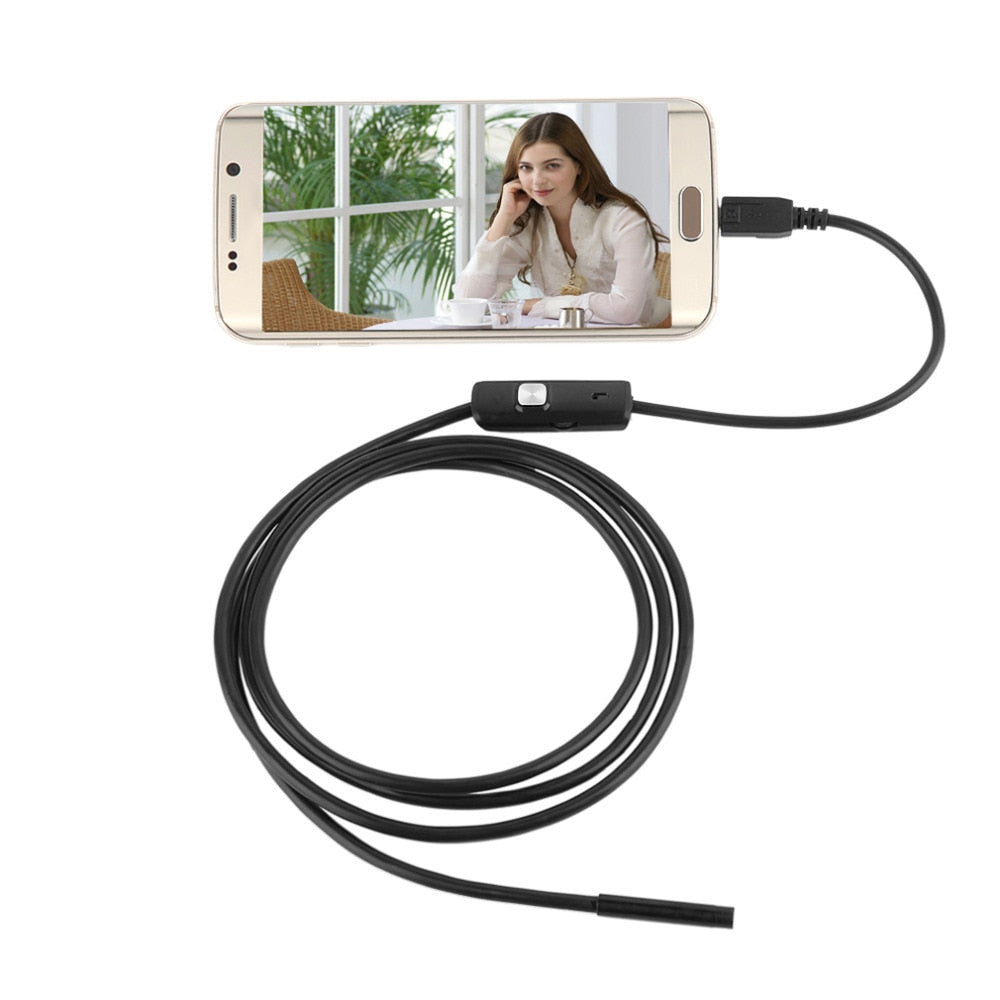 7.7mm 2M Focus Camera Lens USB Cable Waterproof 6 LED Mini USB Endoscope Inspection Camera For Android