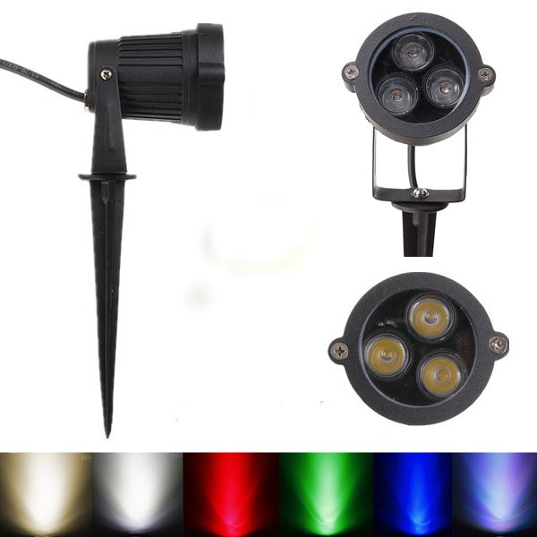 6W LED Flood Light With Rod For Landscape Garden IP65 DC 12-24V