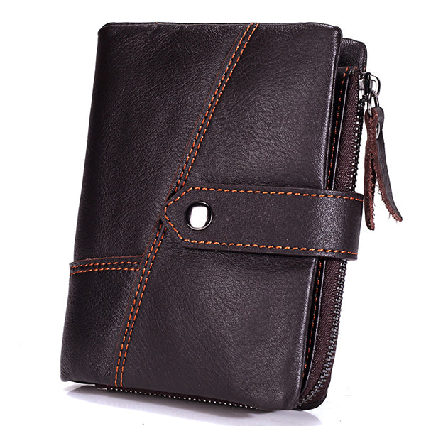 13 Card Holders Genuine Leather Casual Hasp Coin Bag Wallet For Men