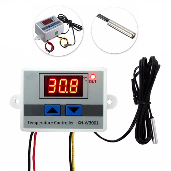 XH-W3001 220V 10A Digital LED Temperature Controller Thermostat Control Switch Probe