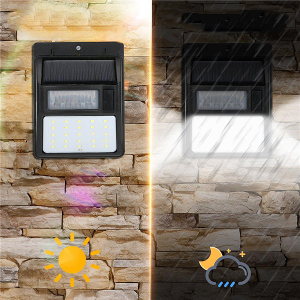 ARILUX® AL-SL20 Solar 35 LED PIR Motion Sensor Light Waterproof Security Wall Lamp Street Outdoor
