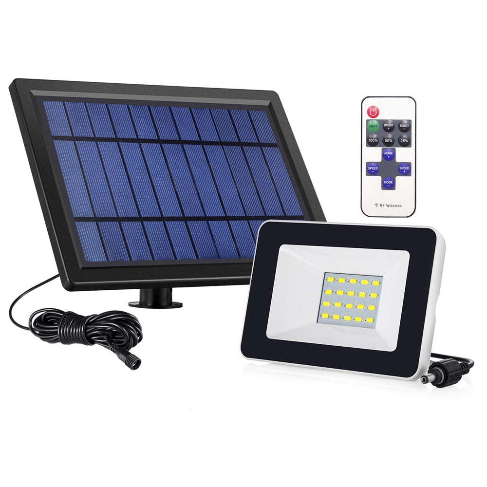Solar Powered 4W 20 LED Waterproof Remote Control Wall Lamp Flood Light for Outdoor Yard Garden