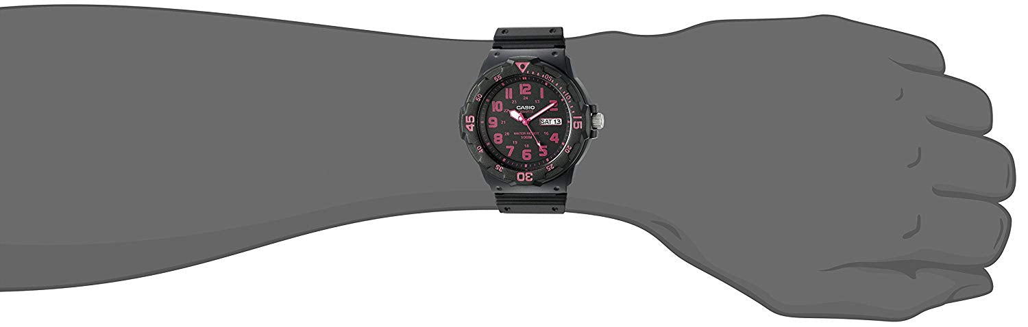 Casio Men's 'Classic' Quartz Resin Watch, Color:Black (Model: MRW200H-4CV)