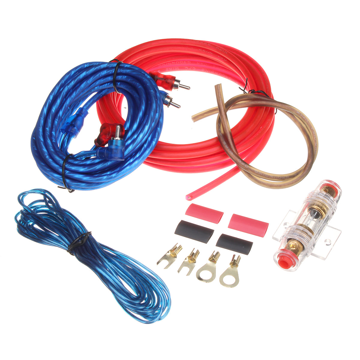 Car Audio Subwoofer Sub Amplifier AMP RCA Wiring Kit Power Audio Cable 10GA 4.5M