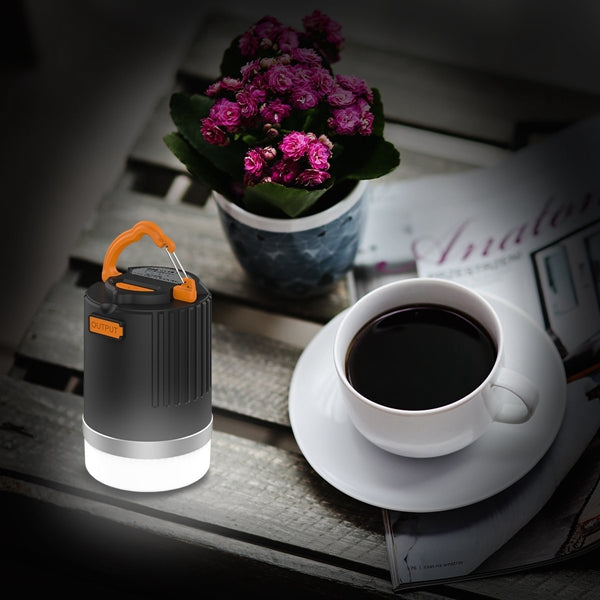 ARILUX® LED Rechargeable Camping Lantern with 10400mAh Power Bank Ultra Bright 440lm IP65 Waterproof