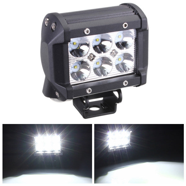 18W Car 6LED Work Light Spot Lightt Bright Projector Lamp  12V White for SUV ATV