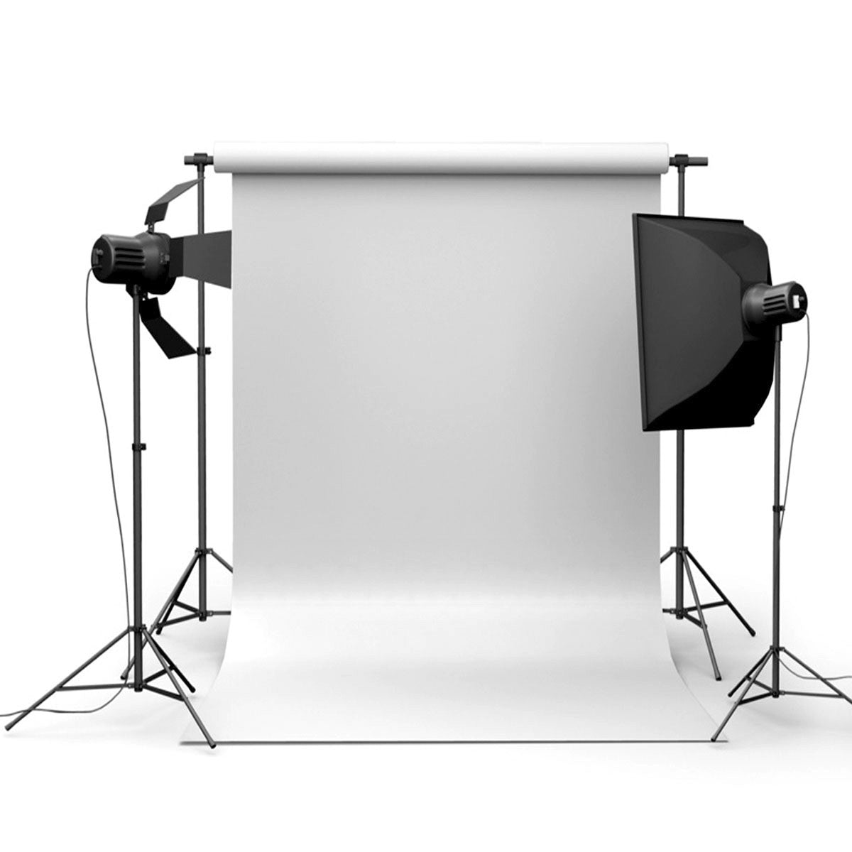 Backdrop 90x150cm 3x5ft Pure White Vinyl Studio Photography Backdrop Props Background