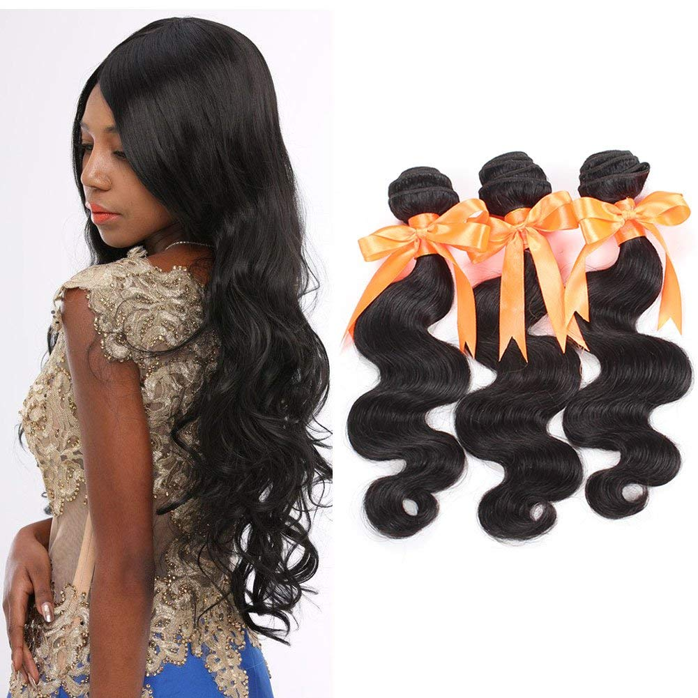 Brazilian Human Hair Body Wave Unprocessed Virgin Brazilian Hair Brazilian Body Wave 3 Bundles 8A Brazilian Remy Hair Very Best Human Hair Weft Extensions