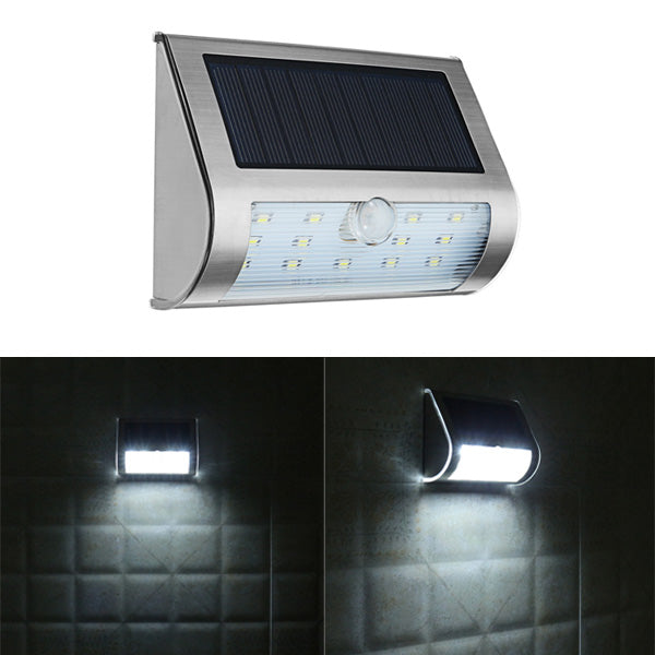 ARILUX Solar Power 13 LED PIR Motion Sensor LED Light Outdoor Garden IP65 Security Wall Lamp