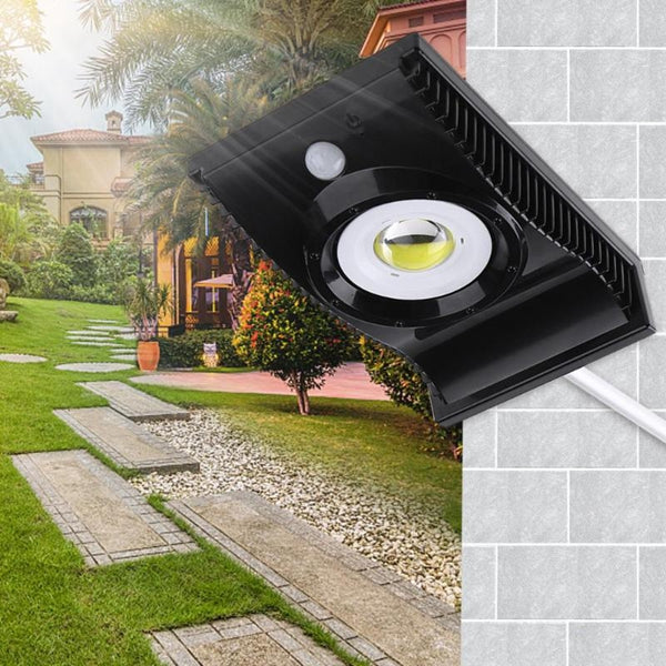 Solar COB LED PIR Motion Sensor Street Light Outdoor Waterproof Garden Pathway Security Road Lamp