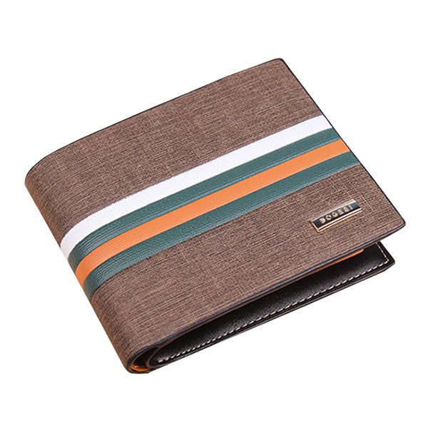Men Leisure Bifold Wallet Minimal Wallet Card Holder with 10 Card Slots
