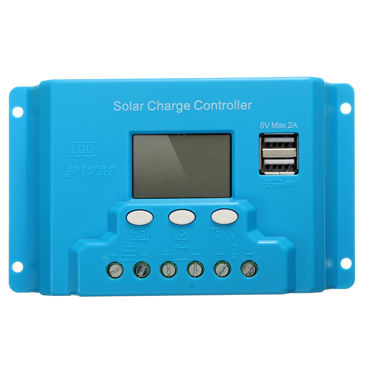 10A 20A 30A LCD PWM Solar Panel Charge Controller Battery Regulator 12V/24V with Dual USB