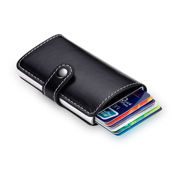 Automatic Pop-up Card Holder RFID Blocking Secure Money Clip for Men Women