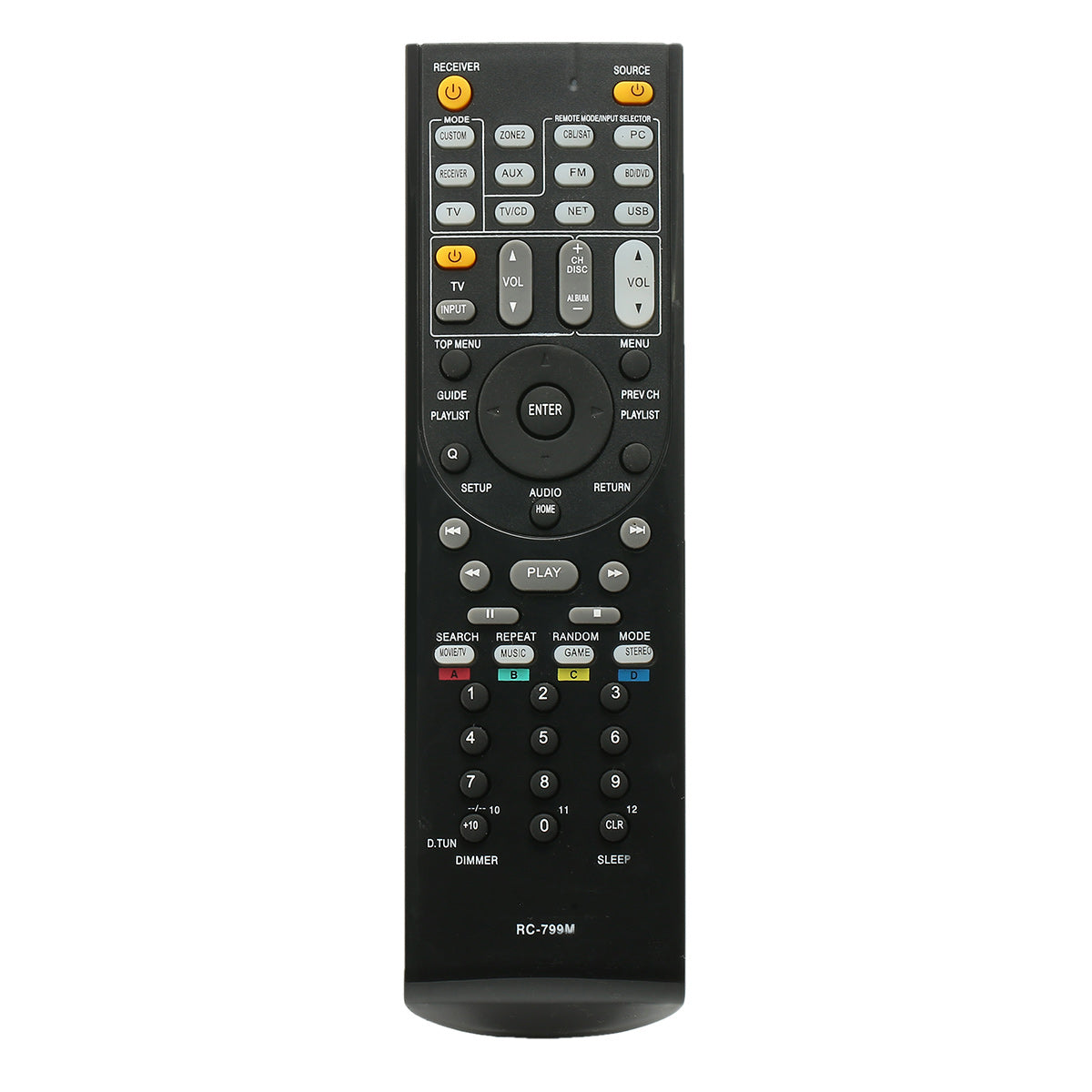Remote Control for ONKYO HT-R391 HT-R558 HT-R590 HT-R591