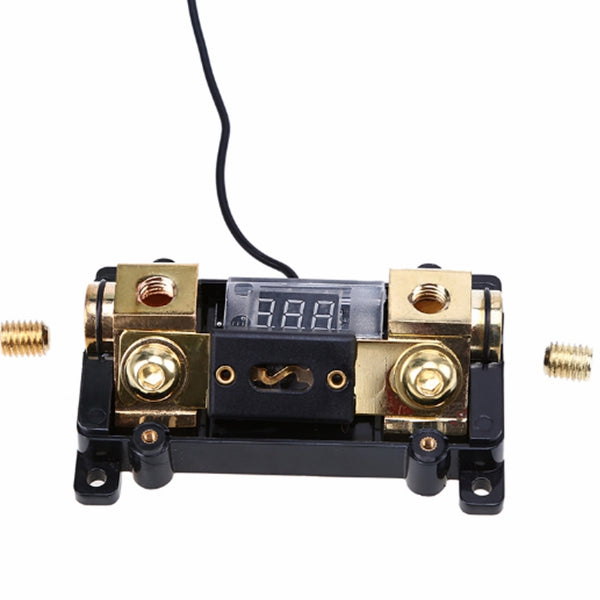 Car Fuse Holder 100A/150A/200A/250A For Car Stereo Audio Display Digital Indicator With Red LED