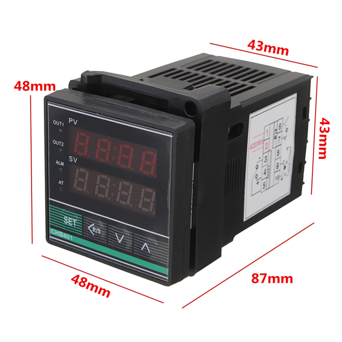 Digital PID Thermostat Temperature Controller SSR-25DA Thermocouple Heat Sink