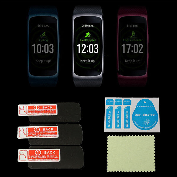 Samsung Gear Fit 2 3Pcs Anti Scratch Frosted Screen Protector Films Shield For Samsung Gear Fit 2