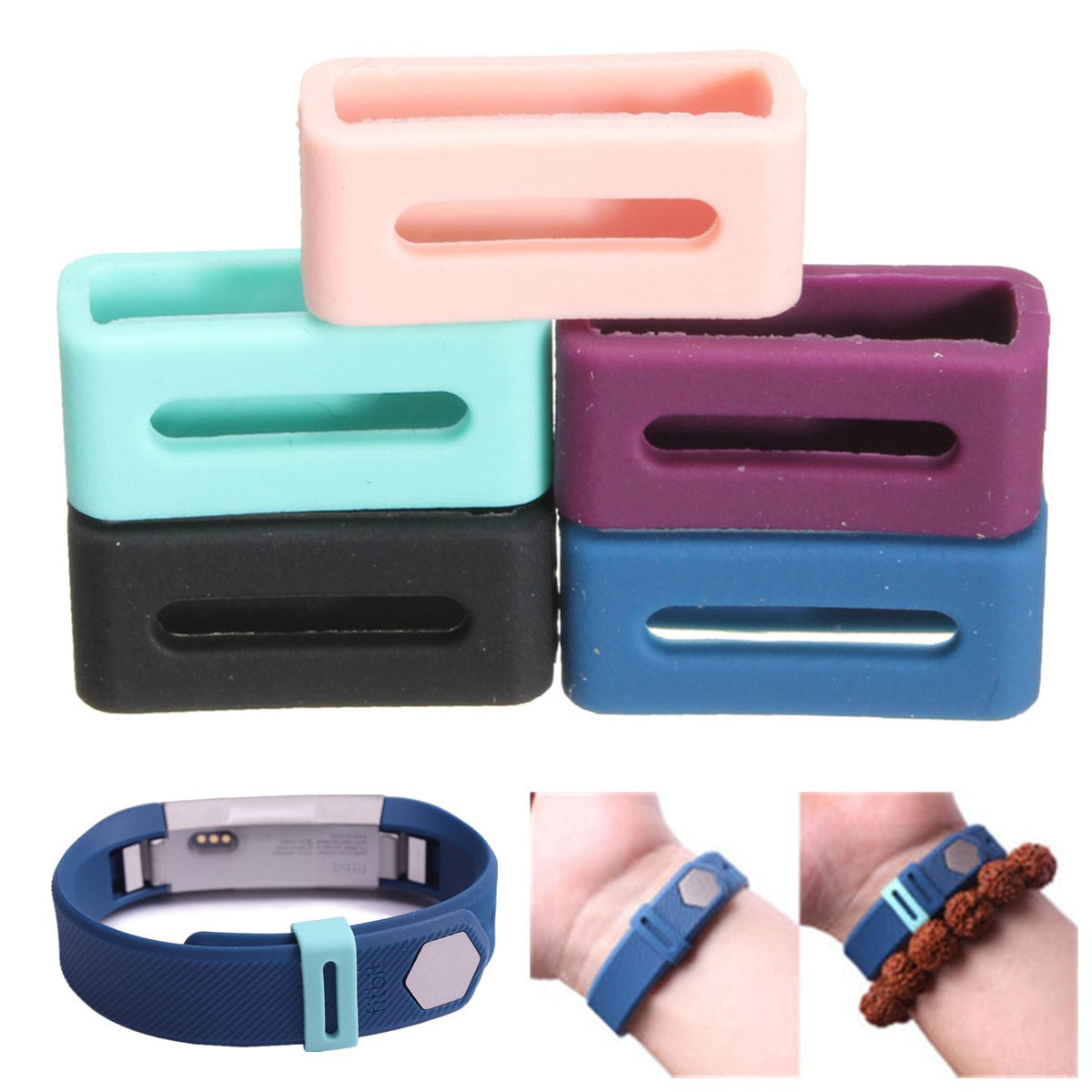Fitbit Alta Silicone Security Wristband Clasp Ring Loop Fastener For Fitbit Alta