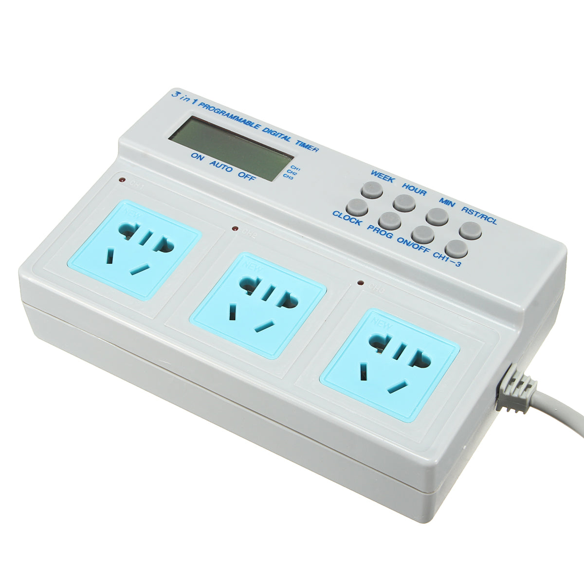 AU Plug Microcomputer Control 3in1 Programmable Digital Timer Socket High Power