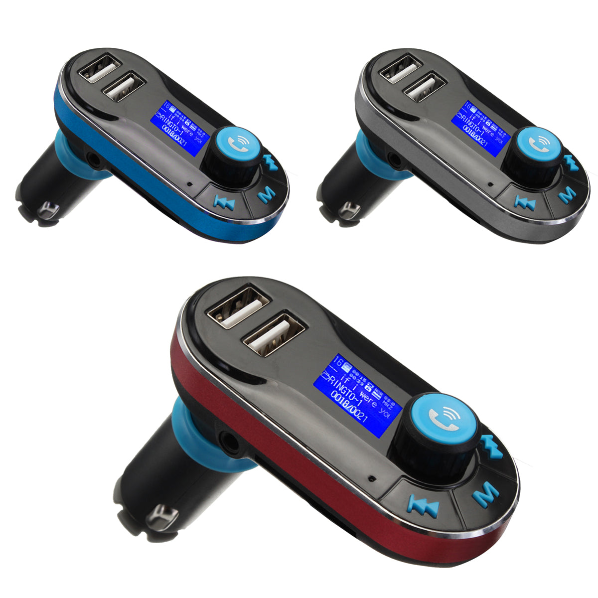 BT66 Bluetooth Car Kit MP3 Player FM Transmitter LCD Dual USB Charger + Remote