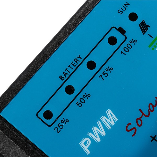 30A 12V 24V PWM Solar Panel Charge Intelligent Controller Auto Battery Regulator