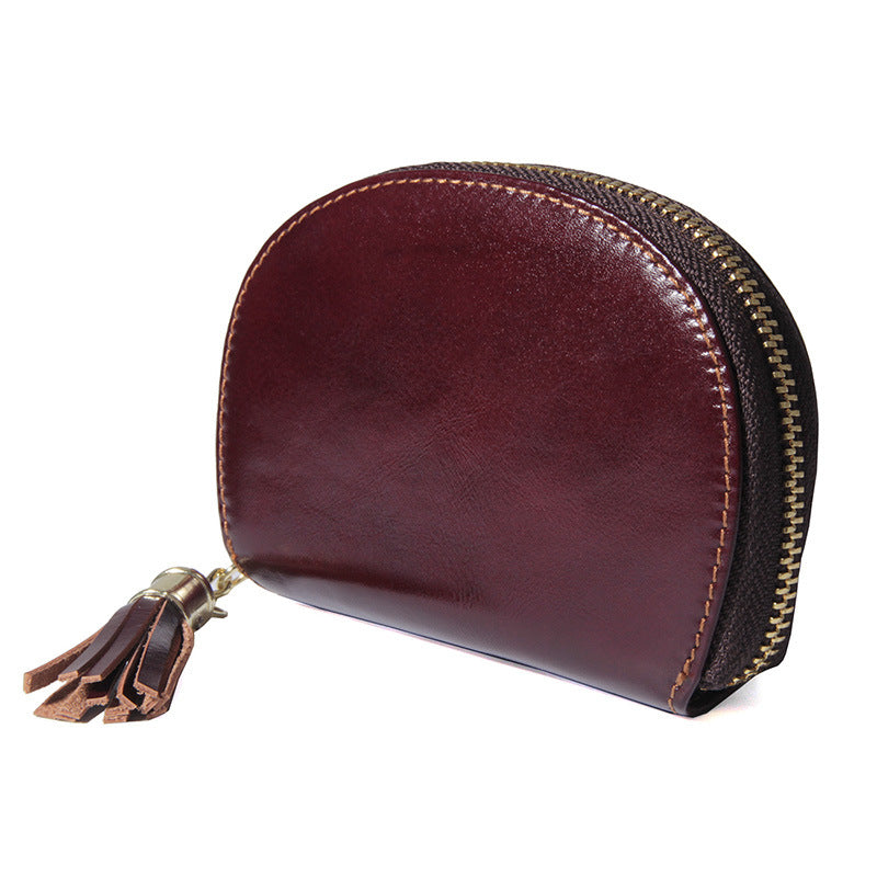 Men Women RFID Antimagnetic Genuine Leather Coin Bag Card Holder Wallet